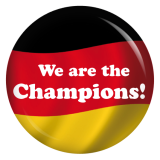 Button We are the Champions Deutschlandfahne
