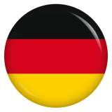 Button Deutschland Flagge