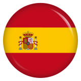 Button Spanien Flagge