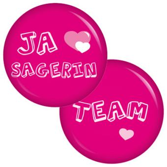 9 Buttons Set Ja-Sagerin / Team