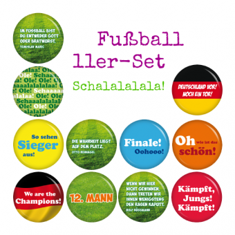 Buttons Fussball 11er-Set