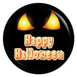 Button Happy Halloween leuchtende Augen