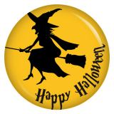 Button Happy Halloween Hexe