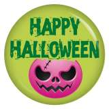 Button Happy Halloween Fratze pink