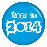 Button Born in 2014 blau