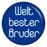 Button Weltbester Bruder