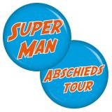 9 Buttons Set Superman / Abschiedstour