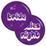 9 Buttons Set Bride / Ladies Night