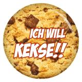 Button Ich will Kekse!!